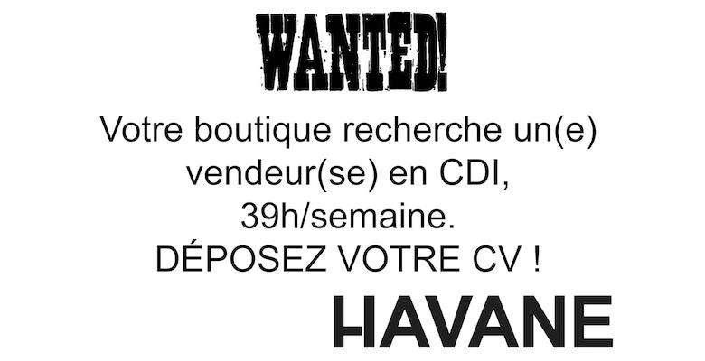Havane recrute !