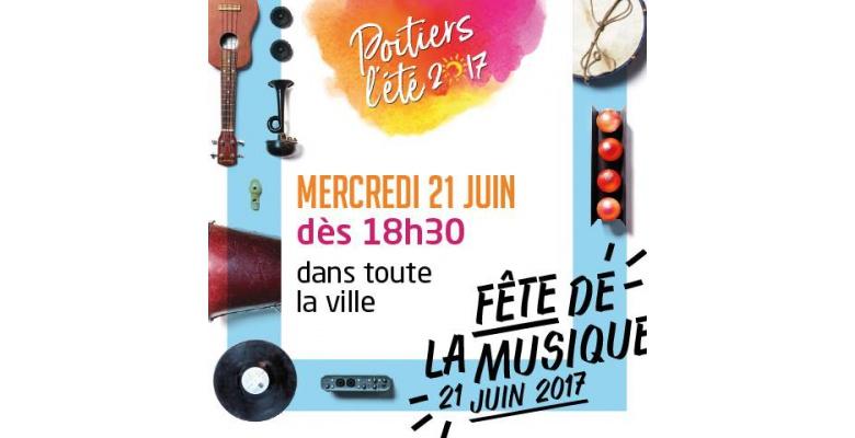 Fête de la Musique 2017 en centre-ville de Poitiers
