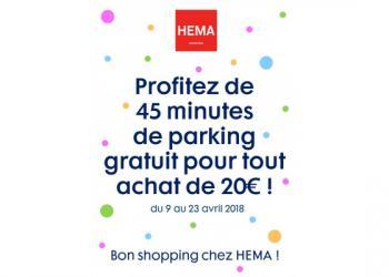 Hema vous offre le parking