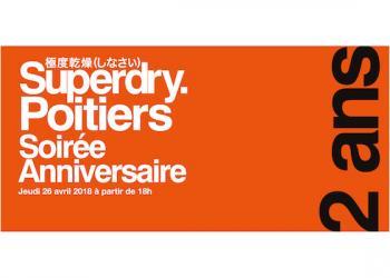 Superdry Poitiers vous invite pour une soirée anniversaire !