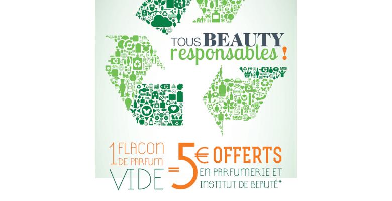 Recevez des bons d'achats cumulables* en recyclant vos flacons chez Beauty Success